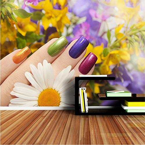 xbwy Large Mural Roll Wall Paper Wallpapers for 3 D Living Room Nail Beauty Spa Salon Wallpaper Cafe Store Decoration Decor-120X100Cm