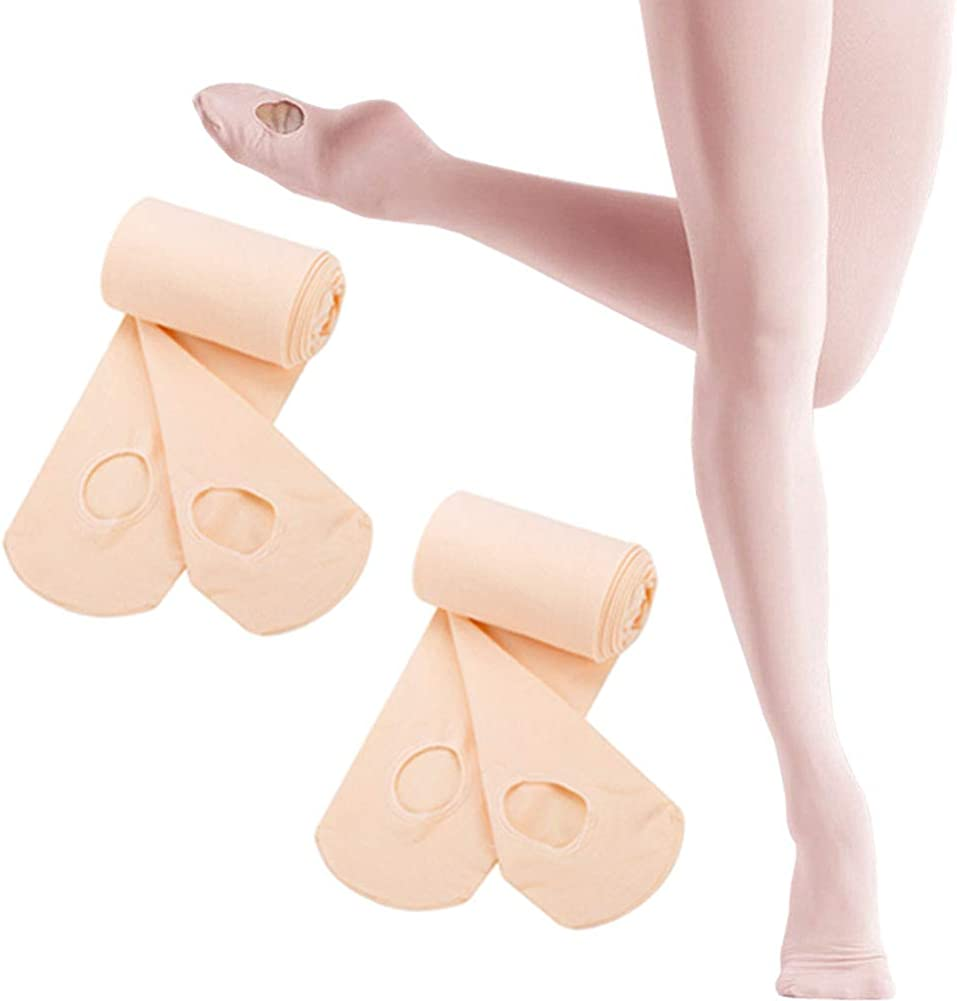 Ballet Tights for Girls Ultra Soft Convertible Dance Tights for Girls Toddler//Kids