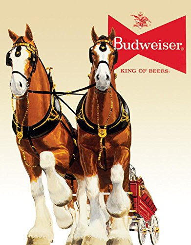 Bud Clydesdale Team Metal Tin Sign , - Sign Team