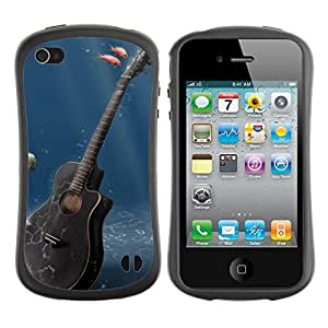 Suave TPU GEL Carcasa Funda Silicona Blando Estuche Caso de protección (para) Apple Iphone 4 / 4S / CECELL Phone case / / Music Guitar /