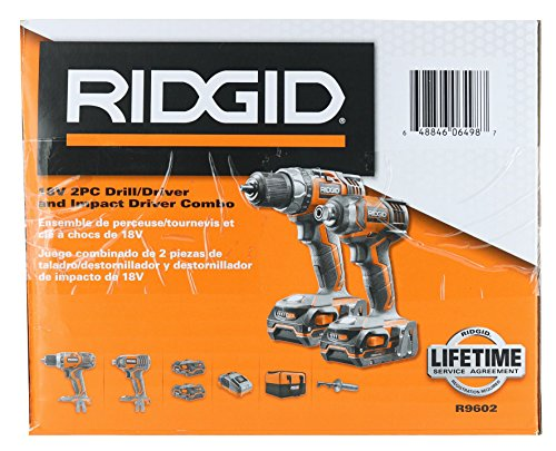 Ridgid X4 R9602 18V Lithium Ion Cordless Drill and Impact Driver Combo Kit with Soft-Sided Tool Case (2 Tools, 2 Compact Batteries, Charger, and Bag Included) by Rigid (Image #7)