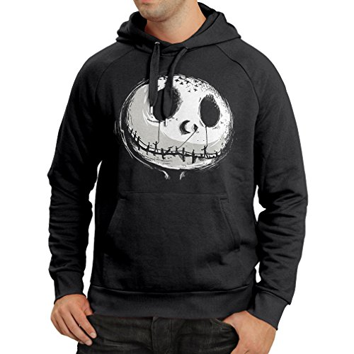 Hoodie Scary Skull Face - Nightmare - Halloween outfit party costumes (XX-Large Black Multi Color)