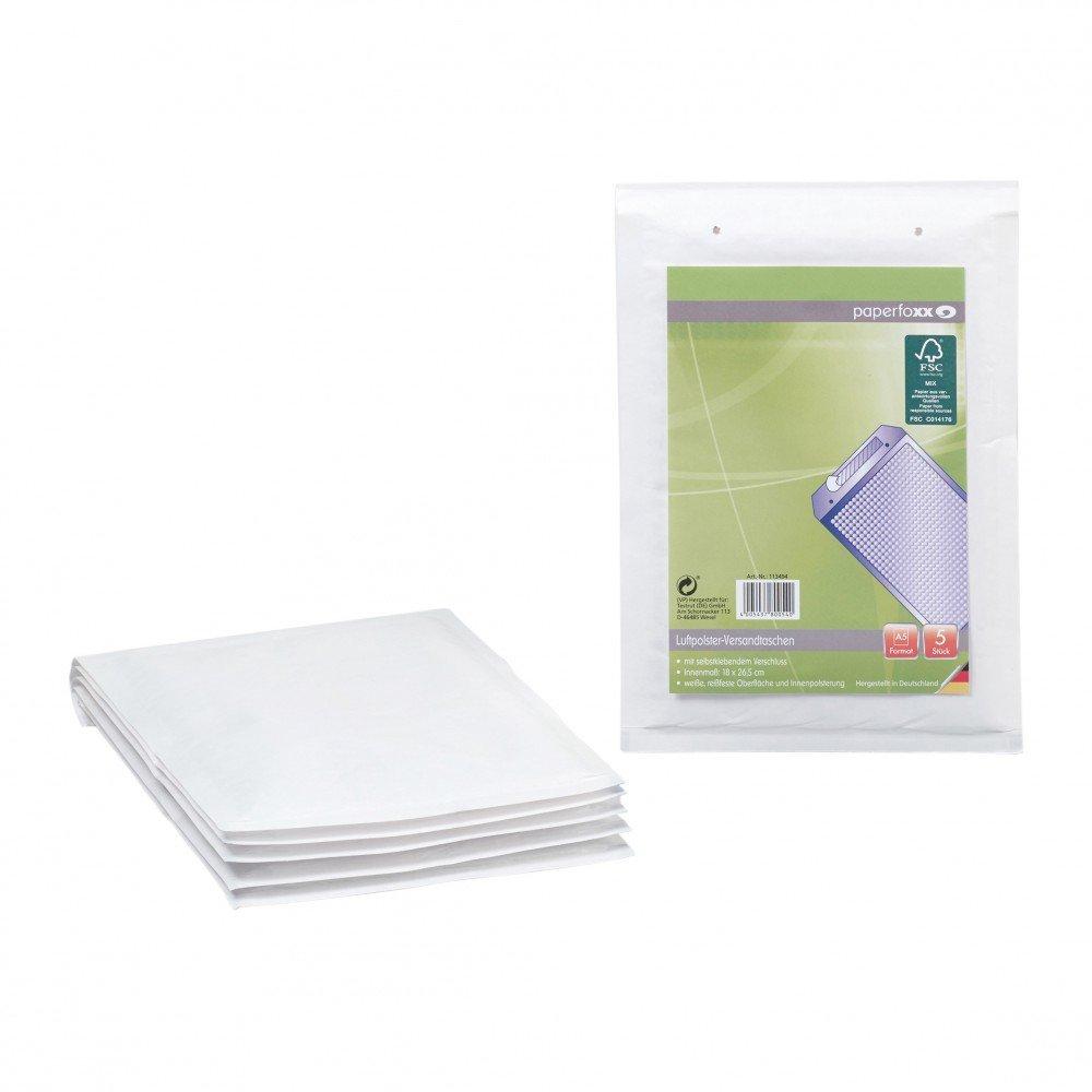 Paperfoxx 113494 - Buste imbottite, formato A5, 20 pz, colore: bianco TESTRUT DE GMBH