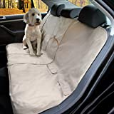 Kurgo Wander Dog Car Seat Cover, Khaki - Stain Resistant - Water-Resistant - Universal Fit