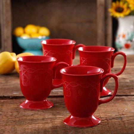 4 piece coffee mug set - 6
