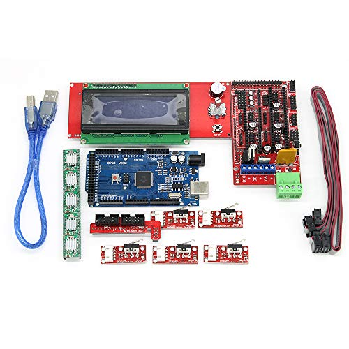 Eiechip CNC 3D Printer Kit for Arduino Mega 2560 R3 + RAMPS 1 4 Controller  + LCD 2004 + 6X Limit Switch Endstop + 5 A4988 Stepper Driver 3D Printer