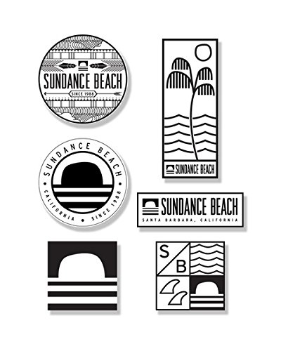 Sundance Beach Sticker Pack Surf & Skateboard Surf Shop Surfboard Beach Decal