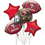 Anagram 31389 San Francisco 49Ers Balloon Bouquet, Multicolored