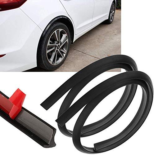 Car Wheel Fender Extension Eyebrow Arch Trim Lips Strip Soft Rubber Fender Extension Moulding Protector, 59″ Long 2PCS