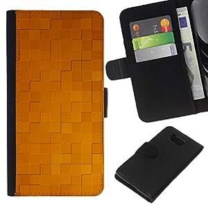 KLONGSHOP // Tirón de la caja Cartera de cuero con ranuras para tarjetas - Simple patrón de 32 - Samsung ALPHA G850 //