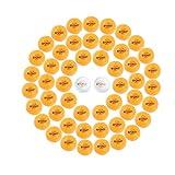 Paquete de 52 pelotas de tenis de mesa iPong Spinforce con 50 unidades de 3 estrellas de 40 mm más naranja de entrenamiento avanzado de ABS con 2 paquetes de bolas de competición blancas aprobadas por la ITTF de 3 estrellas, multicolor