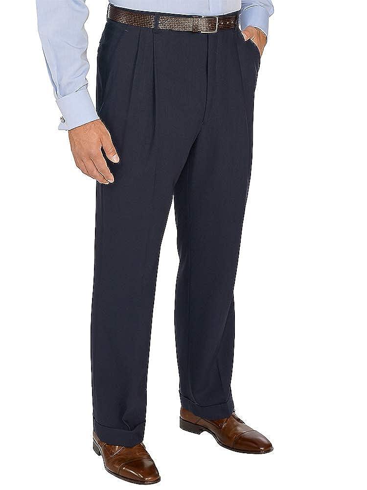 Paul Fredrick Mens Essential Wool Pleated Suit Pants