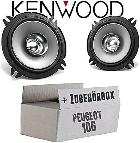 JUST SOUND best choice for caraudio Einbauset f/ür Peugeot Partner Lautsprecher Boxen Kenwood KFC-S1756-16cm Koax Auto Einbauzubeh/ör