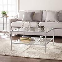 Southern Enterprises Kaari Square Metal/Glass Open Shelf Coffee Table