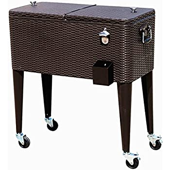 Amazon.com : HIO 80 Qt Outdoor Patio Cooler Table On ...