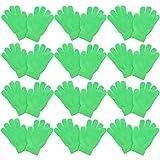 Kids Gloves Magic Knit for Girls/Boys   Set of 12   Neon Green