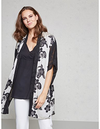 Maniche Con Nero Size Bianco Kimono Ricamate italian Oltre EUBwqa