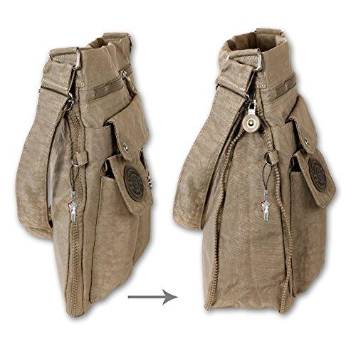 Bag Street - Bolso cruzados de nailon para mujer gris - gris