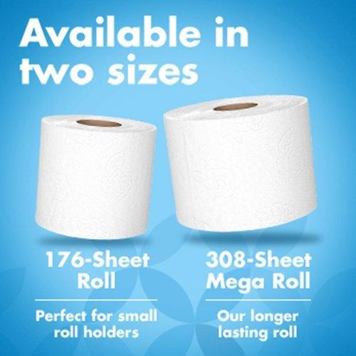 Amazon Brand - Presto! Ultra-Soft Toilet Paper, 176-Sheet Roll, 12 Count