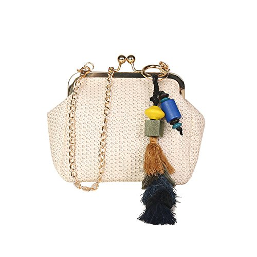 braided Brown chain bag messenger shoulder Fashion 2018 one bag straw Fringe Yx0HXqv8