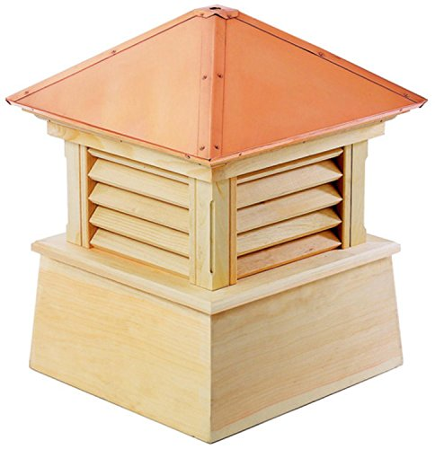22'' Handcrafted ''Bristol'' Copper Roof Wood Cupola by CC Home Furnishings