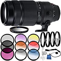 Fujifilm XF 100-400mm f/4.5-5.6 R LM OIS WR Lens Bundle with Accessory Kit (24 Items)