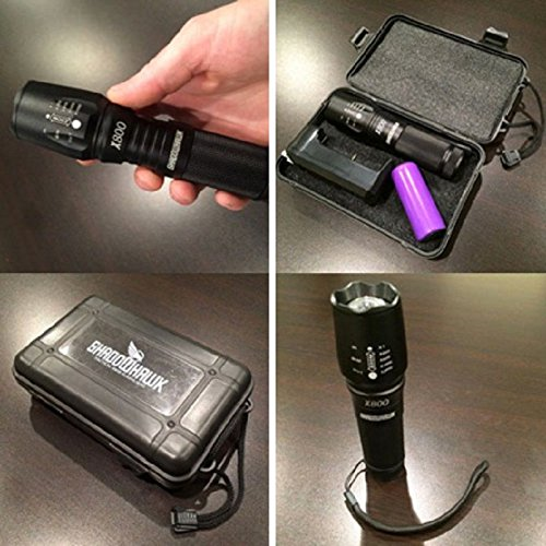 2000 Lumen Zoomable Cree XML T6 LED 18650 Flashlight Focus Torch Zoom Lamp Light