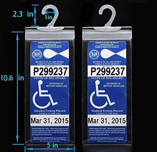 Amazon.com: 2 x Handicap Permiso de Estacionamiento Mantel ...