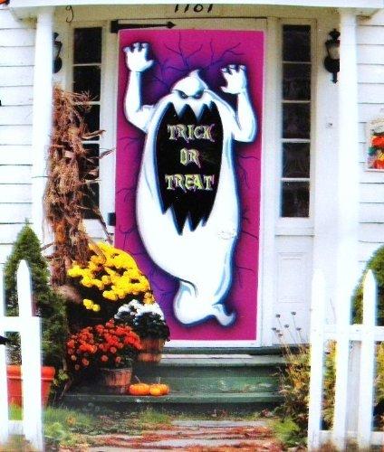 Halloween Door Cover Trick Or Treat (Witch Bathroom Door Cover)