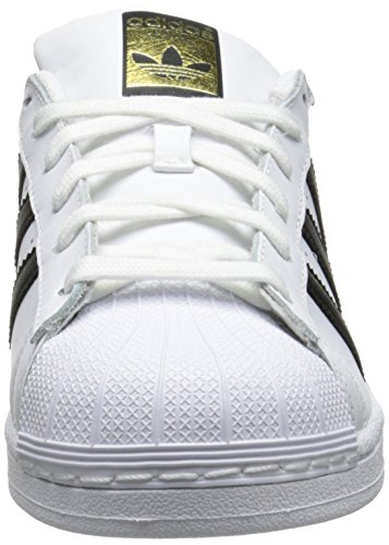 White Adidas W white Basses Superstar black Sneakers Femme fppqXBr6