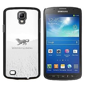 Winter Is Coming Stark- Metal de aluminio y de plástico duro Caja del teléfono - Negro - Samsung i9295 Galaxy S4 Active / i537 (NOT S4)