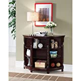 Furniture Co Cherry Wood and Veneer Console Table | Attractive Cherry Wood Veneer Finish