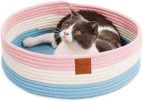 Cesta para gatos, cojín para gatos, cama para gatos, animales domésticos, para perros gatos azul: Amazon.es: Hogar