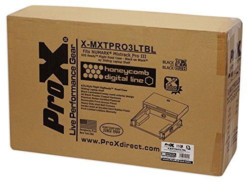 ProX X-MXTPRO3LTBL Black Travel Flight Case For Mixtrack Pro 3 w/ Laptop Shelf by Pro-X (Image #8)
