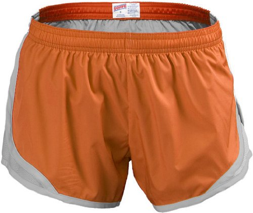 Soffe Girl's Team Shorty Short, Orange, Small