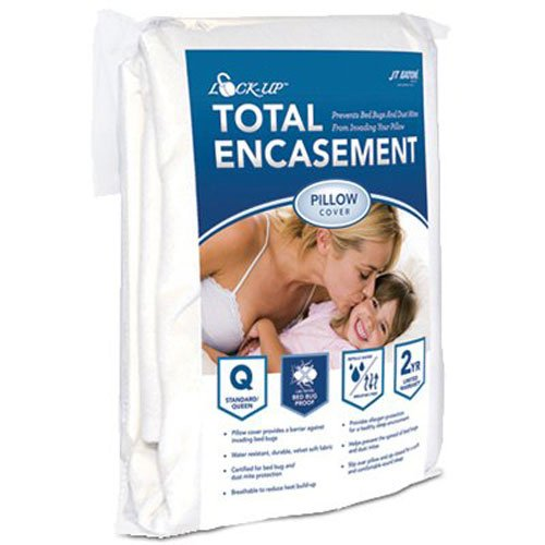 J T Eaton 82STQUPIL Lock-Up Total Encasement Bed Bug Protection for Standard or Queen Size Pillow Cover
