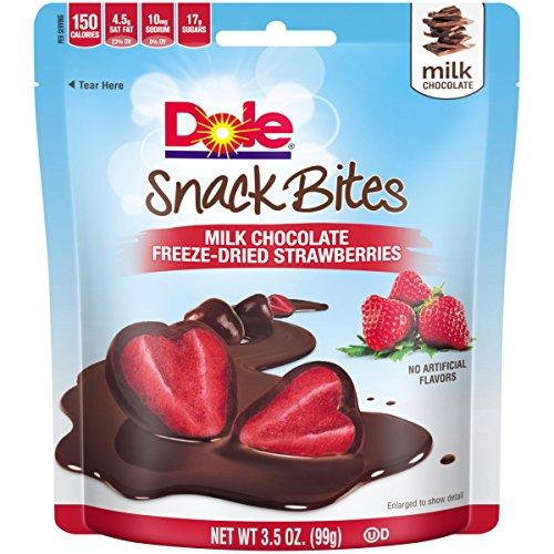 Dole Snack Bites, Milk Chocolate Strawberries, 3.5 Ounce (Pack of (Milk Chocolate Snack)