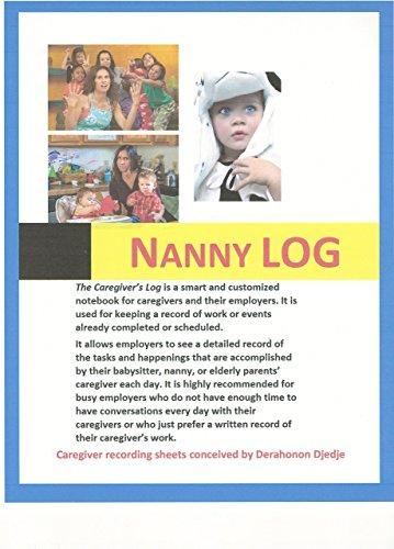 Nanny Log: Canguro, aupair grabación de Nanny 's Actividad diaria y hojas