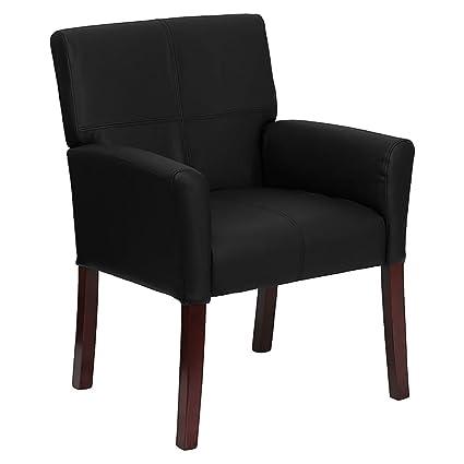 Amazon.com: offex bt-353-bk-lea-gg piel Negro Silla de Side ...