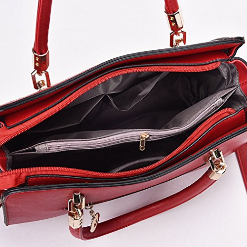 Wathet Leather Bags Bags Women's Shoulder Body Handle Handbags Cross Bags Faux Top qFpPfw