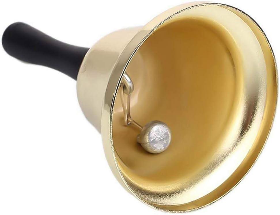 Schule Hochzeitsveranstaltungen Hotelschalter Gold hellomagic Metalltee Hand Glocke Lauter Anruf Service f/ür Weihnachtsmann Empfangsrestaurant