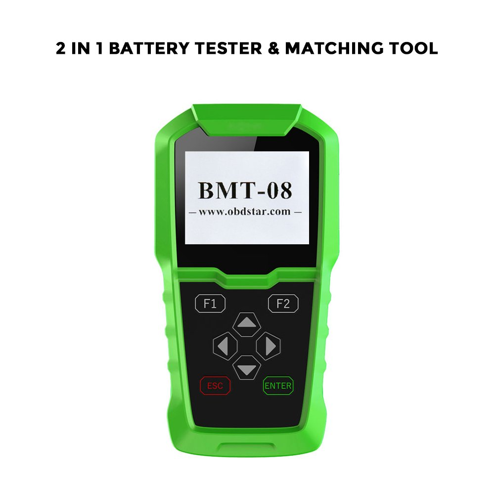 Obdstar BMT-08 12V/24V Automotive Battery Tester and Battery Matching Tool OBD2 Battery Configuration Tool Digital Battery Analyzer for Cars and Heavy Duty Trucks