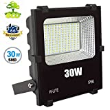 W-LITE 30W LED Flood light Outdoor Lighting IP66 Waterproof External Security Spot Lights for Garden Yard Exterior Soft Daylight White 240W Equivalent AC86-265V