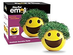 Chia Pet Emoji Smiley with Seed Pack, De...