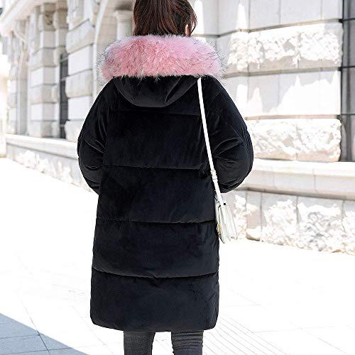 Velluto Invernale Donna Giacca Outdoor Liber Di Per Giacche Moda Cappuccio Cappotti Tasca Cotone Il In A Zhrui Donna Cappotto Con Pelliccia Tempo Coste Lungo Imbottite Capispalla 5xwW10q