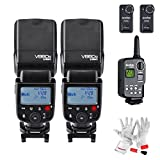 Godox VING V860C HSS TTL E-TTL Li-ion Flash Speedlite with Godox FT-16S Wireless Power Control Flash Trigger Receiver for Canon