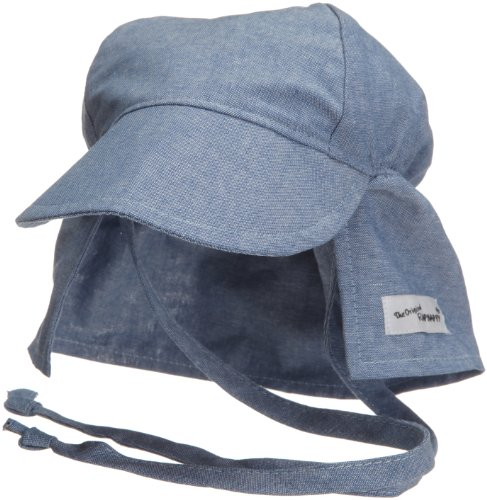 Flap Clothes Happy - Flap Happy Flap Hat With Ties, Chambray X Large