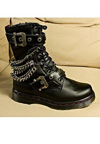 Punk Boots Western Battlefield Gothic Combat Military Hill Silent Steampunk Mens SharpSpirit w4qO6Aw