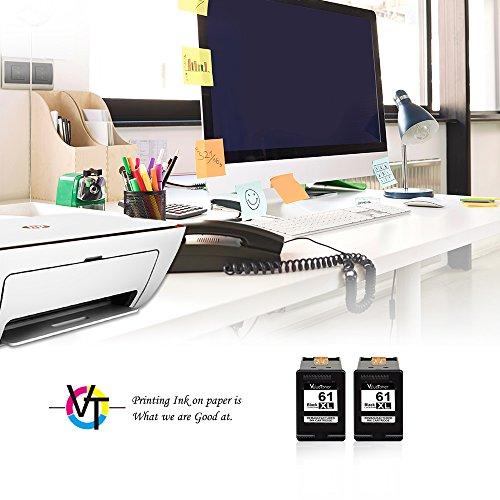 Valuetoner Remanufactured Ink Cartridge Replacement for HP 61XL 61 XL High Yield for HP Envy 4500 5530 5534, Deskjet 2540 1000 1010, Officejet 4630 2620 4635 Printer (2 Black) by Valuetoner (Image #2)