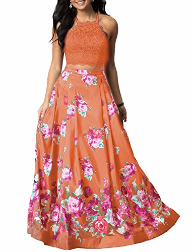 orange junior prom dresses - 7